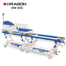 New Design DW-856 CE&ISO Approved Hospital Manual Patient Transfer Operation Connecting Trolley