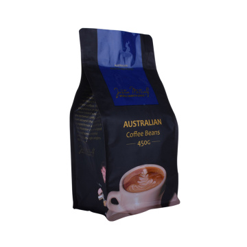 Custom print top zip plastic block bottom coffee bags grosir Kanada
