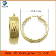 Gold Plated Jewelry Stainless Steel Earrings (ERS6900)
