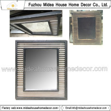 Decorative Antique Glass Wall Mirror with Solid Wood Frame