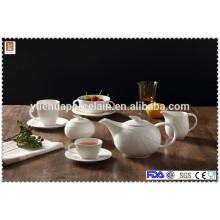 Ceramic coffee tea pot/milk jar/sugar pot/cup and saucer/two-ear bowl set