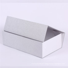 Silver foil cosmetic floding gift paper box