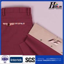 Algodão spandex poplin tecido para as mulheres calças
