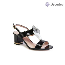 factory wholesale ladies thick heel strap sandals