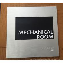 Diretório de Identificação de Indicador Interior do Edifício Metal Braille Ada Sign