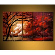 Pintura a óleo da paisagem para a parede decorativa