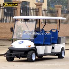 Carro de patrulha elétrico de 6 lugares EXCAR elétrico mini-bus Cruiser com caixa de carga