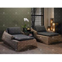 Juego de dormitorio de jacinto de agua de mimbre natural mejor vendido para muebles de interior