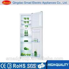 Grande capacidade de uso doméstico porta dupla top freezer geladeira preço