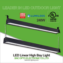 SNC 240W high bay led lighting UL cUL led linear high bay 100-277VAC 5 years warranty IP66 widely used in workshop, warehouse