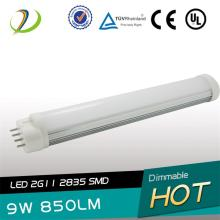 225 mm de longitud LED 2G11 tubo 9W