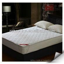 100% algodão acolchoado equipado colchão protetor cor lisa