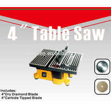 """100mm 90W Electric Power Craft Hobby pequena mesa de precisão viu máquina 4 """"Mini Bench Saw"""