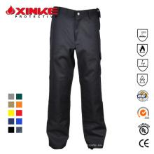 pantalones ignífugos de algodón para hombres de carga pesada con seis bolsillos