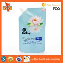 Eco freundliche wiederverwendbare Stand up laminierte Kunststoff-Auslauf Tasche für flüssige Seife 400ml