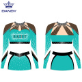 Benutzerdefinierte Mesh Cheer Crop Top Outfits