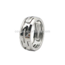 Fashion Stainless Steel Silver Hollow Men Ring