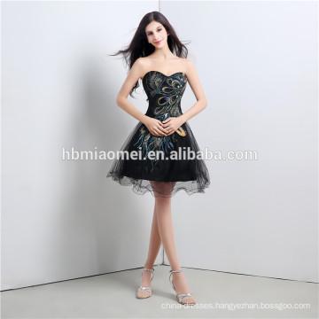 2017 hot sell winter fashion evening dress for Bridesmaids short design offer shoulder party wear evening dress women