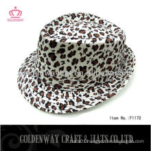 fashion Leopard Fedora hats