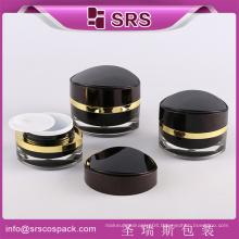 Plastic 15g 30g 50g black acrylic cosmetic jar