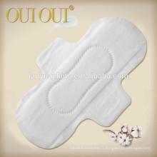 Serviettes hygiéniques respirantes en coton naturel pour les femmes de Chine usine