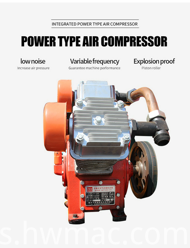 Four wheels air compressor integrated pile driver03