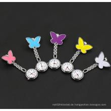 Yxl-960 Fabrik-Preis Fob-Quarz-Metallkrankenschwester-Uhr-süßer Herz-Entwurf mit lächelndem Gesicht medizinischer Gebrauch Klipp-Uhr