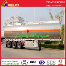 45000 liters Aluminum Stainless Steel Tanker Fuel Tank Truck Semi-Trailer