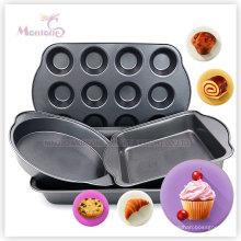 Casserole de cuisson antiadhésive de gâteau d'acier au carbone de 12 tasses