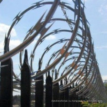 Строительный материал Горячеоцинкованный оцинкованный бритвенный провод, используемый в пограничном заборе