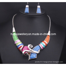 Square Colorful Stone Jewelry Set (XJW13211)