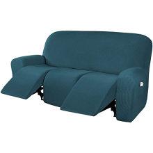 Home Three-seat Furniture Twill Stretch Recliner Sofa Covers