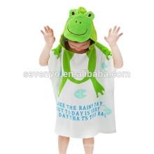 Serviette à capuchon 100% coton bébé avec un design unique, antibactérien et hypoallergénique serviettes de bébé Premium Style Cartoon animaux