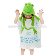 100% cotton Baby Hooded Towel with Unique Design,Antibacterial and Hypoallergenic Premium Baby Towels Animal Cartoon Style