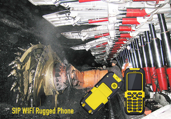 SIP WIFI Rugged Phone yellow