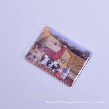 custom elegant dairy cattle painting style tin plate fridge magnets for decoration