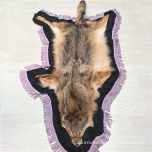 wholesale cheap Genuine tanned real raw fur floor Coyote Rug