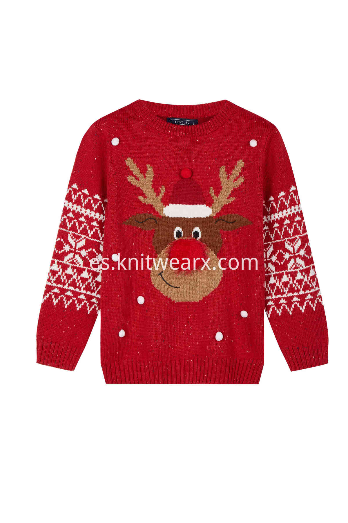 Girl's Ugly Christmas Funny Reindeer Knitted Sweater Pullover