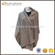 Vente chaude femmes jacquard tricot châle en cachemire