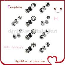 Body piercing jewelry newest wholesale custom designs stud earrings logo earrings