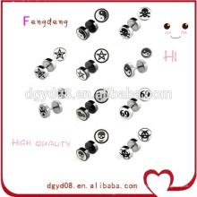 Piercing no corpo de jóias mais novo atacado personalizado projeta brincos brincos logotipo