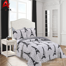 Stock fabric cheap price microfiber bedding set,pigment printed bedding set