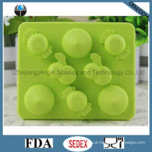 Promoção molde de bandeja de cubo de gelo do silicone da forma da cereja Si19