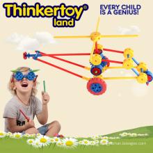 Bloc de construction Creative Toys pour enfants Boy in Helicopter Shape