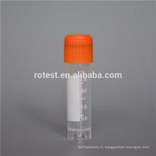 consommables de laboratoire et flacons cryogéniques stérilisés