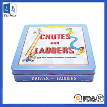 Square Toy Metal Packaging Caixas de lata com tampa