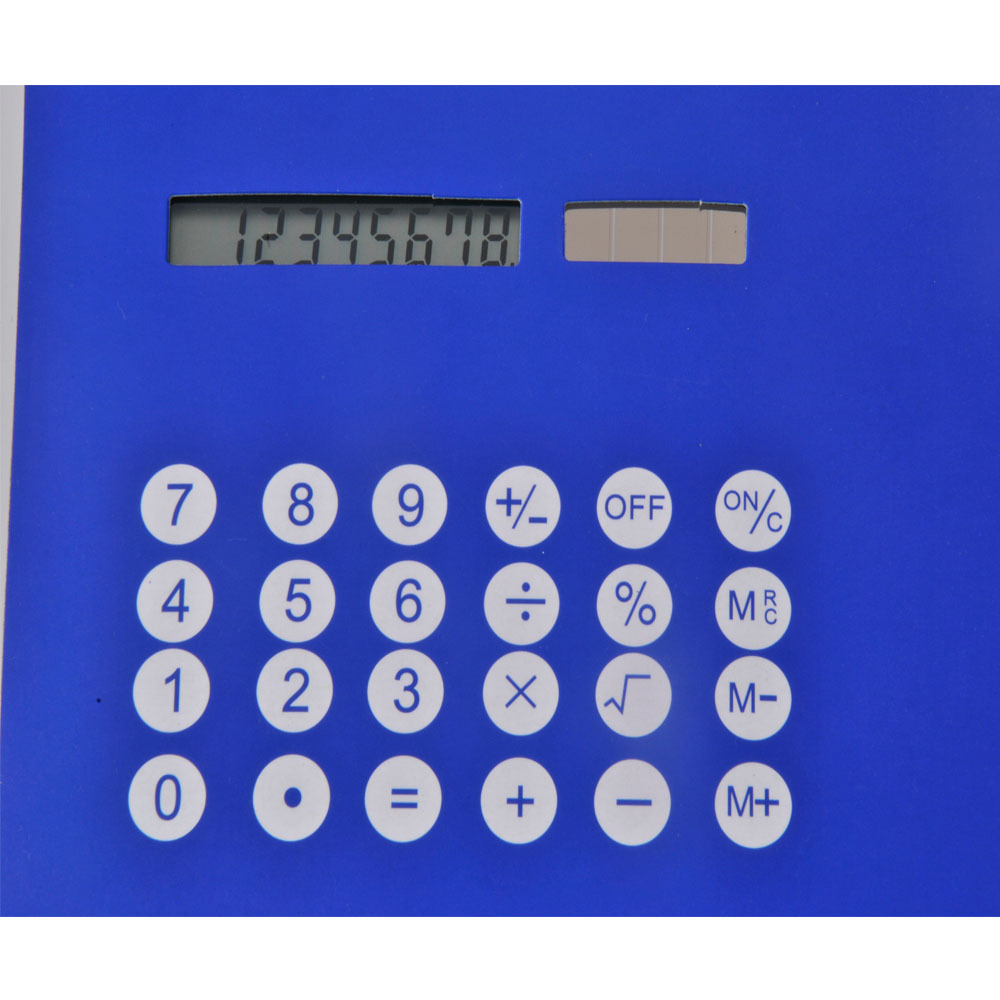 PU leather mouse mat with calculator