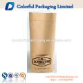 Personalizado resealable matt kraft paper pouch com valor saco de embalagem de café de gotejamento