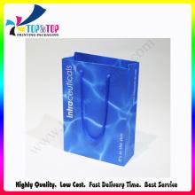 Pantone Color Printing Bolso de papel de compras de lujo plegable al por mayor