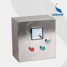 Saip Saipwell Fabriqué en Chine Boîte de contrôle étanche Vente chaude projet Push Box Botton Boîte de contrôle électrique en acier inoxydable